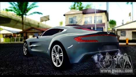 Aston Martin One-77 Red and Black for GTA San Andreas left view
