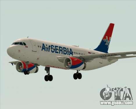 Airbus A319-100 Air Serbia for GTA San Andreas upper view