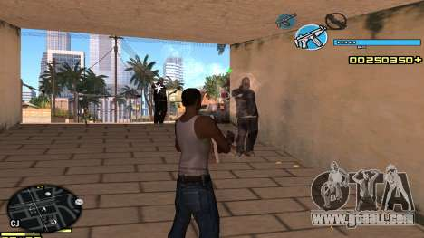 C-HUD Blue for GTA San Andreas third screenshot