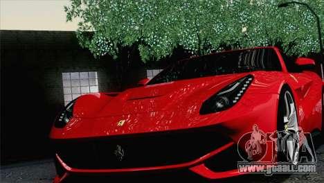 Ferrari F12 Berlinetta 2013 for GTA San Andreas back view