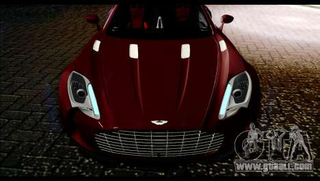 Aston Martin One-77 Black and Red for GTA San Andreas right view