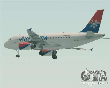 Airbus A319-100 Air Serbia for GTA San Andreas wheels