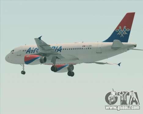 Airbus A319-100 Air Serbia for GTA San Andreas wheels
