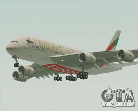 Airbus A380-800 Emirates 40 Anniversary Sticker for GTA San Andreas bottom view