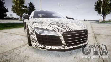 Audi R8 plus 2013 HRE rims Sharpie for GTA 4
