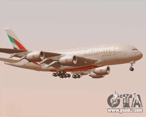 Airbus A380-800 Emirates 40 Anniversary Sticker for GTA San Andreas side view