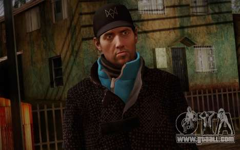 Aiden Pearce from Watch Dogs v9 for GTA San Andreas third screenshot