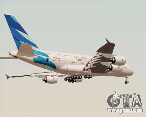Airbus A380-800 Garuda Indonesia for GTA San Andreas bottom view