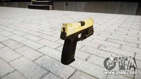 Gun HK USP 45 gold for GTA 4 second screenshot