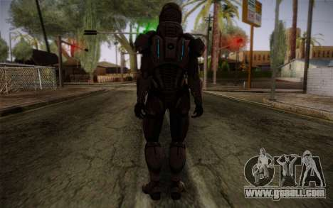 Shepard Default N7 from Mass Effect 3 for GTA San Andreas second screenshot
