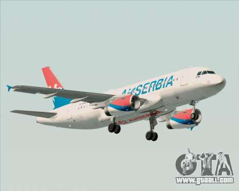 Airbus A319-100 Air Serbia for GTA San Andreas left view