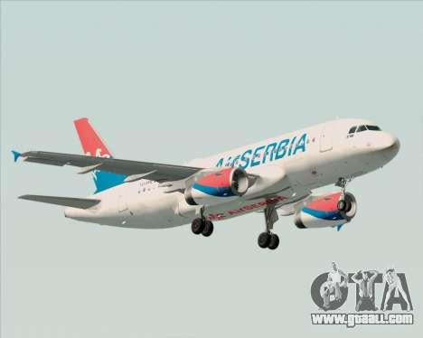 Airbus A319-100 Air Serbia for GTA San Andreas left view