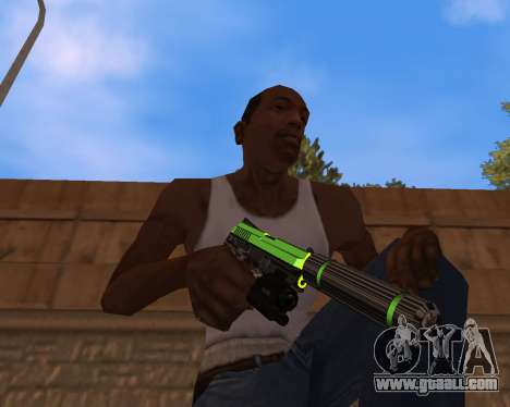 Chrome Green Weapon Pack for GTA San Andreas
