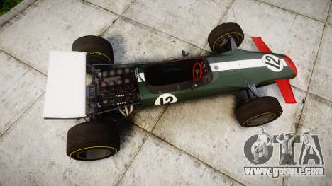 Lotus Type 49 1967 [RIV] PJ11-12 for GTA 4 right view