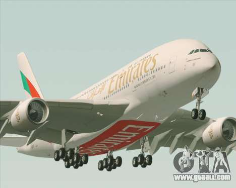 Airbus A380-800 Emirates 40 Anniversary Sticker for GTA San Andreas engine