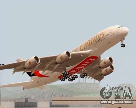 Airbus A380-800 Emirates 40 Anniversary Sticker for GTA San Andreas