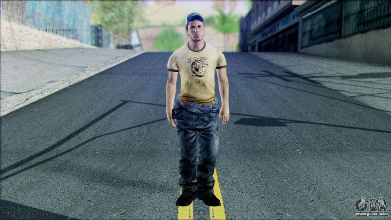 Louis from Left 4 Dead Beta for GTA San Andreas