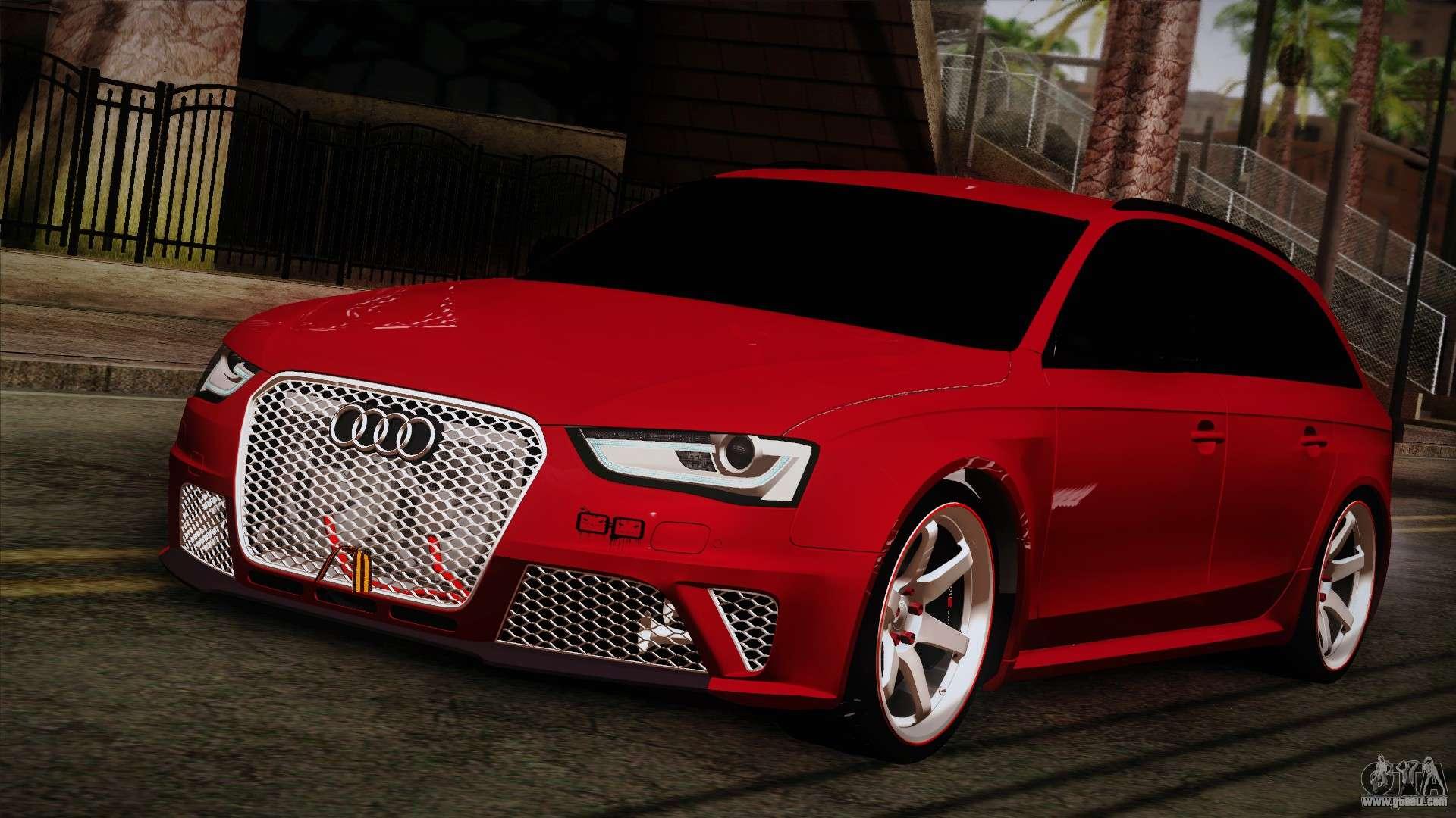 7 Passenger Vehicles >> Audi RS4 for GTA San Andreas