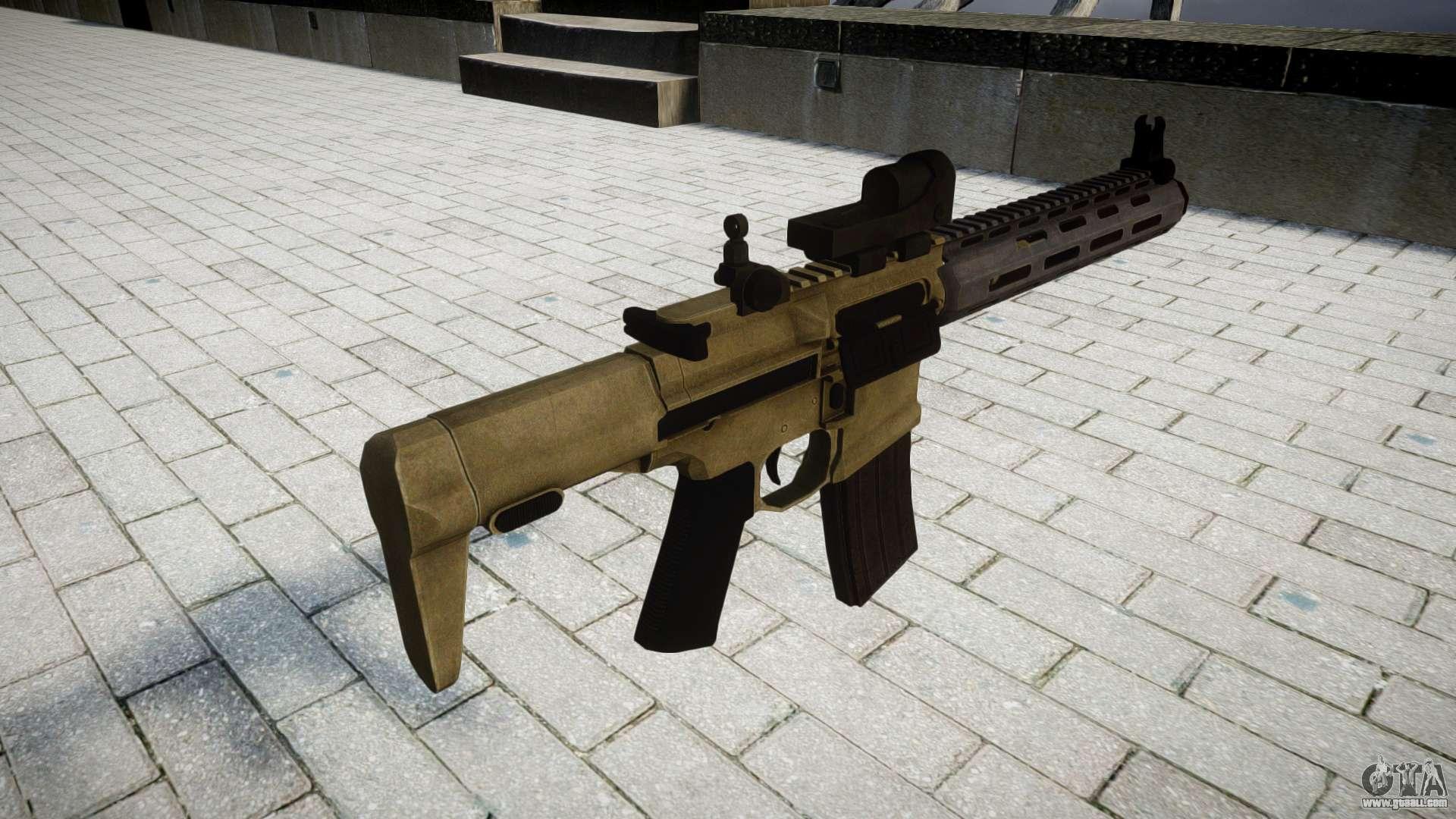 Assault rifle AAC Honey Badger for GTA 4