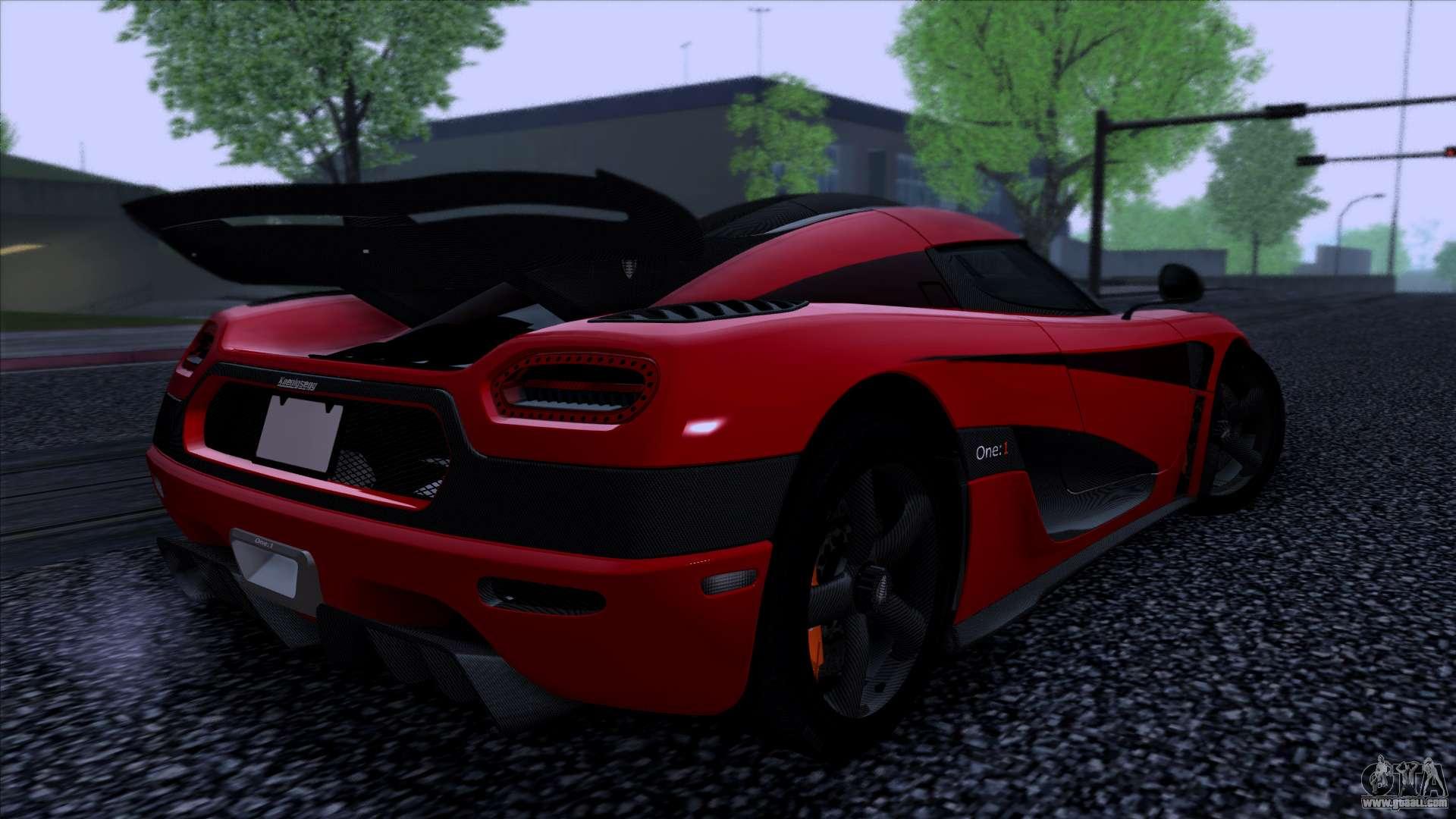 Koenigsegg One 1 2014 For Gta San Andreas