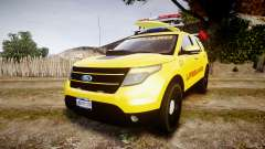 Ford Explorer 2013 Lifeguard Beach [ELS] for GTA 4