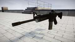 Tactical M4 assault rifle Black Edition target