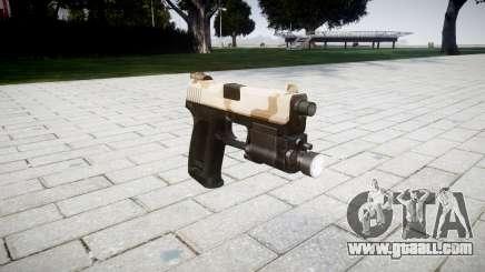 Gun HK USP 45 sahara for GTA 4