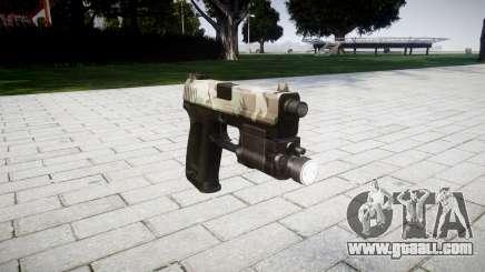 Gun HK USP 45 woodland for GTA 4