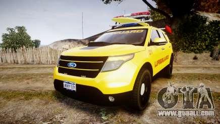 Ford Explorer 2013 Lifeguard Beach [ELS] for GTA 4