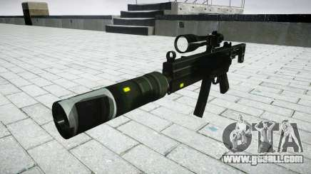 Tactical submachine gun MP5 target for GTA 4