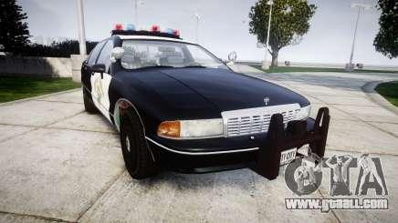 Chevrolet Caprice 1991 Highway Patrol [ELS] for GTA 4