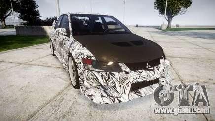 Mitsubishi Lancer Evolution IX Sharpie for GTA 4