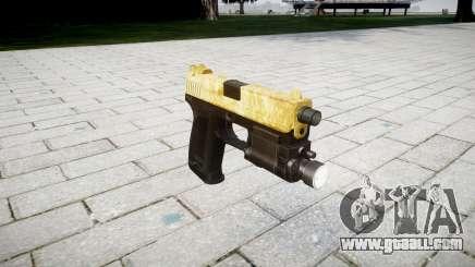 Gun HK USP 45 gold for GTA 4