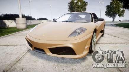 Ferrari F430 Scuderia 2007 plate F430 for GTA 4