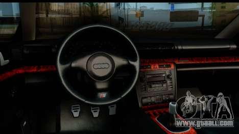 Audi S4 B5 Avant for GTA San Andreas back view