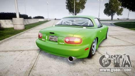 Mazda MX-7 for GTA 4 back left view