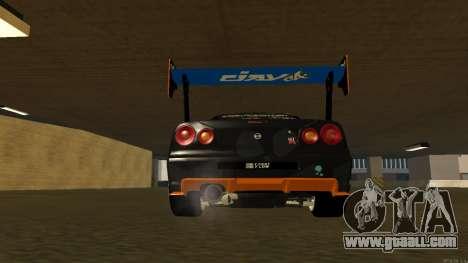 Nissan Skyline R34 FAIL CREW 2014 for GTA San Andreas inner view