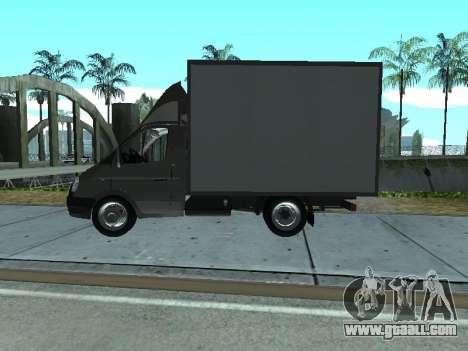 GAZel 3302 for GTA San Andreas back left view