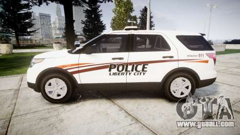 Ford Explorer 2013 Police Interceptor [ELS] for GTA 4 left view