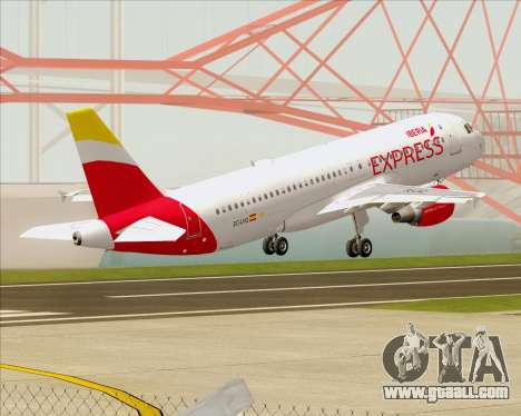 Airbus A320-200 Iberia Express for GTA San Andreas bottom view