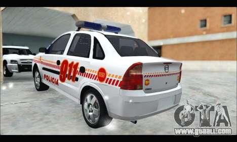 Chevrolet Corsa Premium Policia de Salta for GTA San Andreas left view