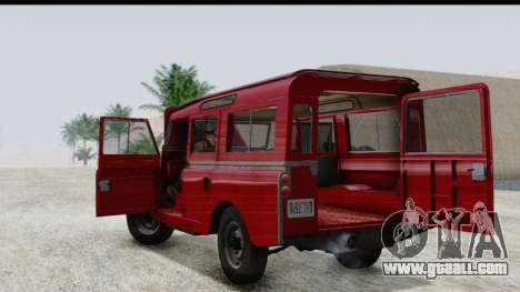 Land Rover Series IIa LWB Wagon 1962-1971 [IVF] for GTA San Andreas upper view