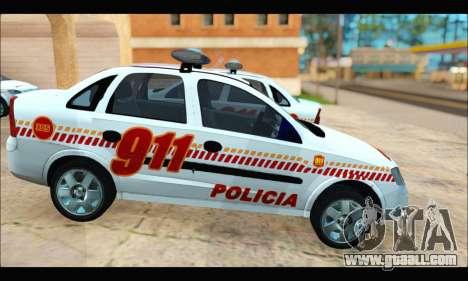 Chevrolet Corsa Premium Policia de Salta for GTA San Andreas right view