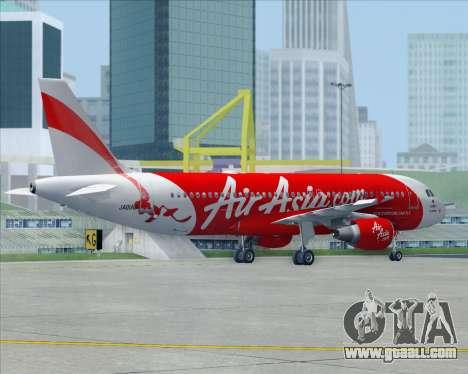 Airbus A320-200 Air Asia Japan for GTA San Andreas interior