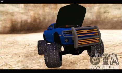Chevrolet Camaro SUV Concept for GTA San Andreas inner view