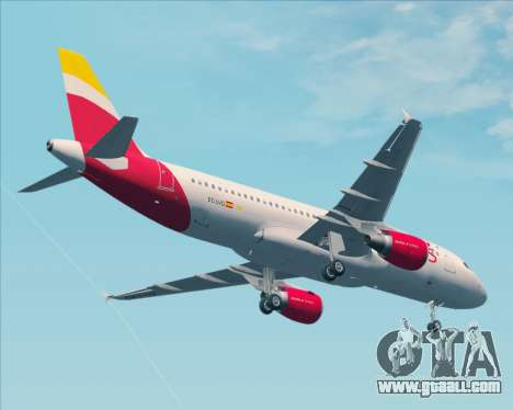 Airbus A320-200 Iberia Express for GTA San Andreas upper view