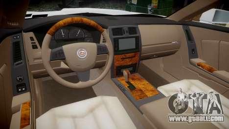 Cadillac XLR-V 2009 for GTA 4 back view