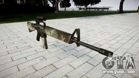 The M16A2 rifle [optical] woodland for GTA 4