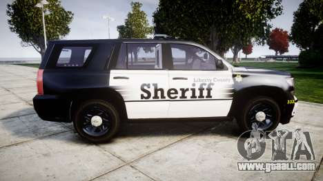 Chevrolet Tahoe 2015 County Sheriff [ELS] for GTA 4 left view