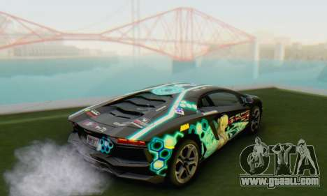 Itasha PJ from Lamborghini Aventador LP700-4 for GTA San Andreas left view